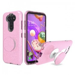 Bling Case with Pop Up for LG Aristo 5 Pink