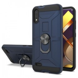 LG K22 New Matte Design Brush Case with Ring Stand - Navy