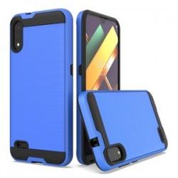 LG K22 Hybrid Texture Brushed Metal case, Blue