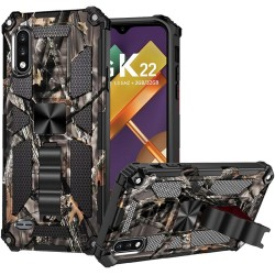 For LG K22 LG K32 5G Machine Design Magnetic Kickstand Case Cover - Camo Army