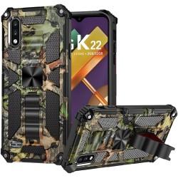 For LG K22 LG K32 5G Machine Design Magnetic Kickstand Case Cover - Camo Jungle
