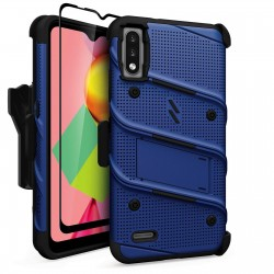 ZIZO BOLT SERIES LG K22 CASE WITH TEMPERED GLASS - BLUE/BLACK
