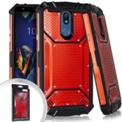 Metal Jacket Diamond Plate Red For LG K40