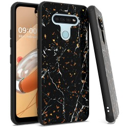 Chrome Flake Marble for LG K51 - Black