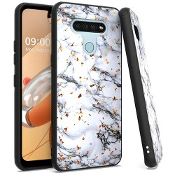 Chrome Flake Marble for LG K51 - White