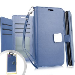 Deluxe Wallet w/ Blister for LG K51 - Navy Blue