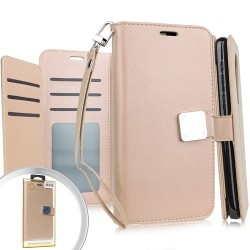 Deluxe Wallet w/ Blister for LG K51 - Rose Gold