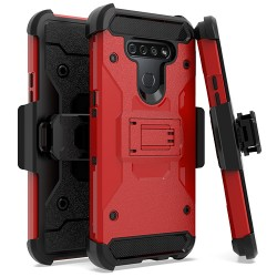 Heavy Duty Tactical Combo for LG K51 - Red