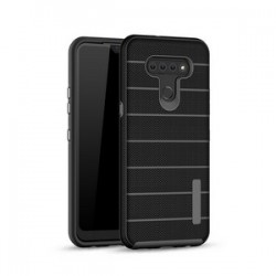 NEW TEXTURE BRUSHED METAL CASE FOR LG K51 - BLACK