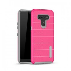 NEW TEXTURE BRUSHED METAL CASE FOR LG K51 - HOT PINK
