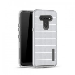 NEW TEXTURE BRUSHED METAL CASE FOR LG K51 - SILVER