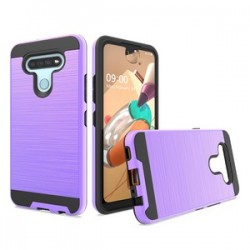 HYBRID TEXTURE BRUSHED METAL CASE FOR LG K51 - PURPLE