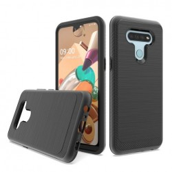 Brushed Metallic Case W/ Edge for LG K51 BLACK