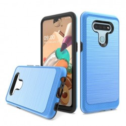 Brushed Metallic Case W/ Edge for LG K51 BLUE
