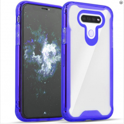 3-IN-1 HEAVY DUTY TRANSPARENT CASE FOR LG K51 - BLUE
