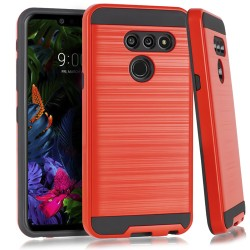 LG G8 ThinQ Brushed Case Red