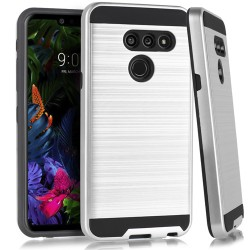 LG G8 ThinQ Brushed Case Silver