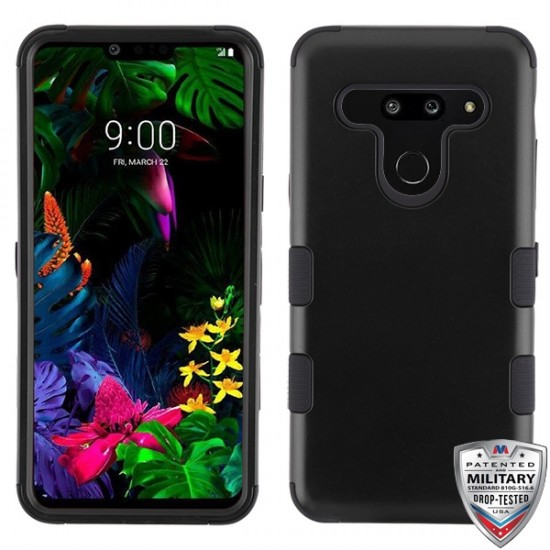 MYBAT Rubberized Black/Black TUFF Hybrid Phone Protector Cover [Military-Grade Certified](with Package)