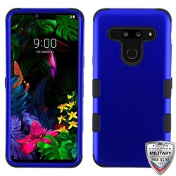 MYBAT Titanium Dark Blue/Black TUFF Hybrid Phone Protector Cover [Military-Grade Certified](with Package)
