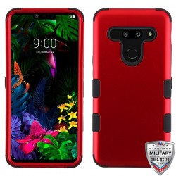 MYBAT Titanium Red/Black TUFF Hybrid Phone Protector Cover [Military-Grade Certified](with Package)
