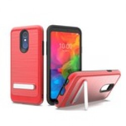 BRUSHED METALLIC W/ EDGE AND KICK FOR LG Q7_RED