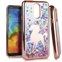 Chrome Glitter Motion Case for LG Q7 PLUS #05RG