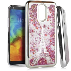 Chrome Glitter Motion Case for LG Q7 PLUS #33S