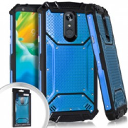 Metal Jacket Diamond Plate Blue For LG Stylo 5