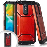 Metal Jacket Diamond Plate Red For LG Stylo 5