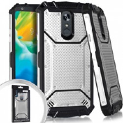 Metal Jacket Diamond Plate Silver For LG Stylo 5