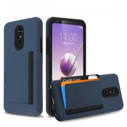 Ink Blue/Black Poket Hybrid Protector Cover (with Back Film)(with Package) For LG Stylo5