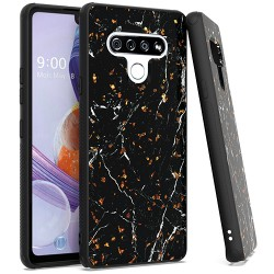 Chrome Flake Marble for LG STYLO 6 - Black