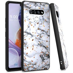 Chrome Flake Marble for LG STYLO 6 - White