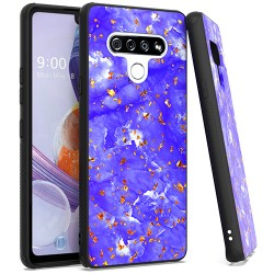 Chrome Flake Marble for LG STYLO 6 - Purple