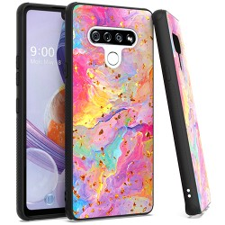 Chrome Flake Marble for LG STYLO 6 - Rainbow