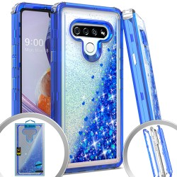 3 IN 1 Glitter Motion for LG STYLO 6 - Dark Blue