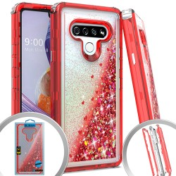 3 IN 1 Glitter Motion for LG STYLO 6 - Red