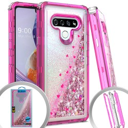 3 IN 1 Glitter Motion for LG STYLO 6 - Hot Pink