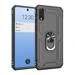 HEAVY DUTY RING STAND CASES FOR LG STYLO 6 GRAY