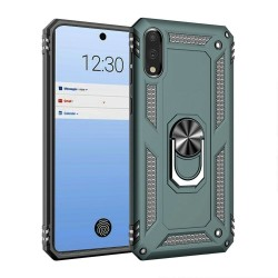 HEAVY DUTY RING STAND CASES FOR LG STYLO 6 MIDNIGHT GREEN