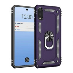 HEAVY DUTY RING STAND CASES FOR LG STYLO 6 PURPLE