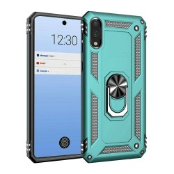 HEAVY DUTY RING STAND CASES FOR LG STYLO 6 TEAL