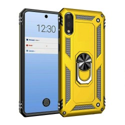 HEAVY DUTY RING STAND CASES FOR LG STYLO 6 YELLOW