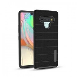 New Texture Brushed Metal case for LG STYLO 6 - Black