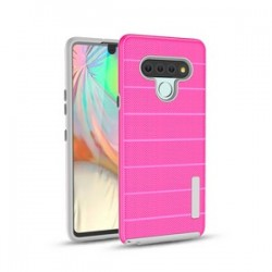 New Texture Brushed Metal case for LG STYLO 6 - Pink