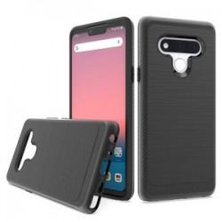 Brushed Metallic Case W/ Edge for LG STYLO 6 - Black