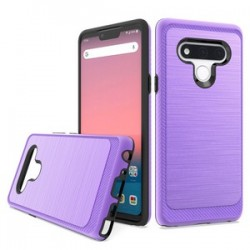 Brushed Metallic Case W/ Edge for LG STYLO 6 - Purple