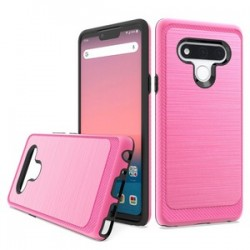 Brushed Metallic Case W/ Edge for LG STYLO 6 - Pink