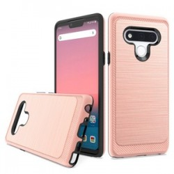 Brushed Metallic Case W/ Edge for LG STYLO 6 - Rose Gold