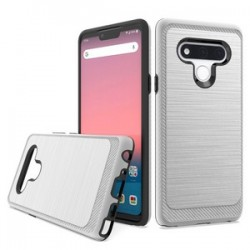 Brushed Metallic Case W/ Edge for LG STYLO 6 - Silver